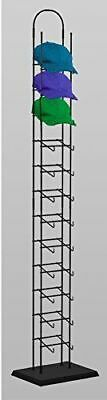 "12-tier Hat Rack Tower with Black Wood Base 80""H x 10""W x 6""D"