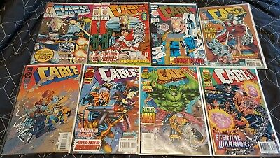 Cable Comics Lot Of 15 Marvel Bishop X-Force Onslaught