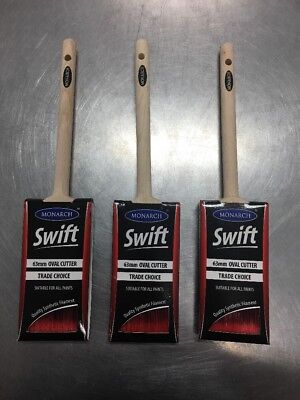 PAINT BRUSH / BRUSHES ABC MONARCH SWIFT 63mm OVAL CUTTERS