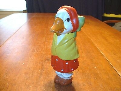 Vintage Hand Painted Japanese Papermache Figural Duck Candy Container