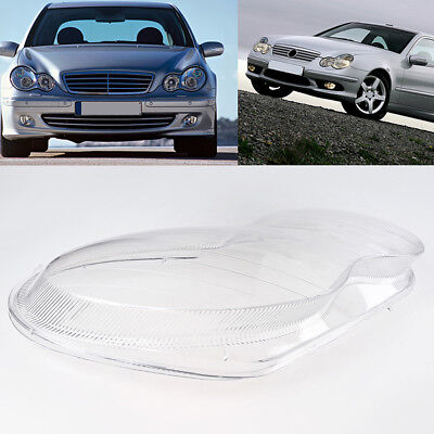 Right Headlight Glass Headlamp Lens Plastic Cover for 01-2007 Benz W203 C-Class
