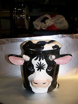 VINTAGE Cow  head cookie jar  REAL UNIQUE