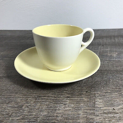 Gladding McBean Yellow Teacup Saucer Catalina Pottery Vintage Cup