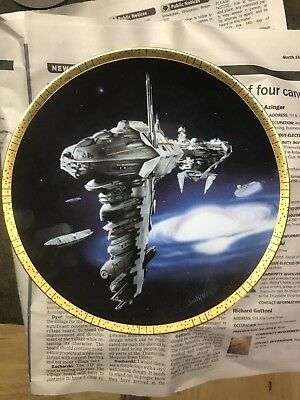 Hamilton Star Wars Space Vehicles Plate Collection MEDICAL FRIGATE