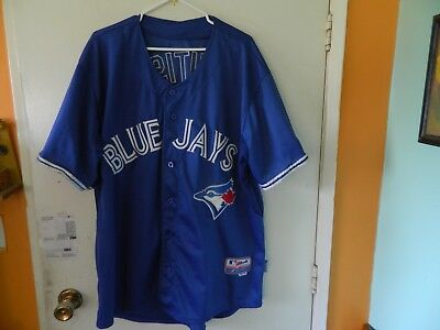d556bb2ab07 Majestic Authentic Toronto Blue Jays  19 Jose Bautista Blue MLB Jersey Sz  54 XXL