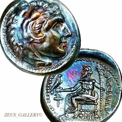 RARE ALEXANDER the Great Lifetime Coin XF Torch Ancient Greek Silver Herakles