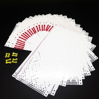 Punch Card With 4 Clips For Sewing Machines Accessories Knitting Tools 20 Sheets