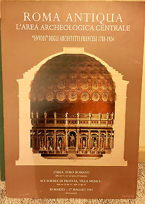 "Vintage ROMA ANTIQUA 1985 Lithograph Poster on Foam Board 18¼"" x 26½"" RARE"