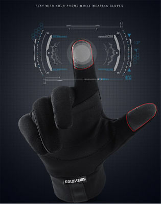 AU Mens Women's Leather Gloves Touch Screen Thinsulate Lined Driving Warm Gloves