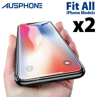 2xScratch Resist Tempered Glass Screen Protector For Apple iPhone 8 7 6s Plus 5s