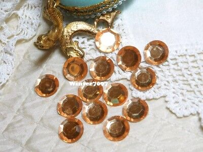 (144)*costume Makers Sellout*rhinestones*round*peach*new!*