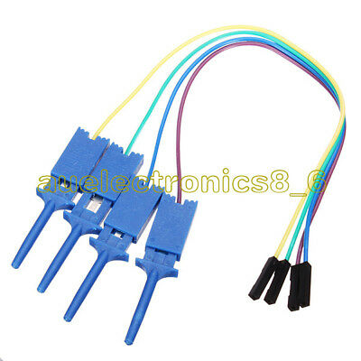 4PCS Test Clamp Wire Hook Test Clip for Logic Analyzer Electronic Components AU