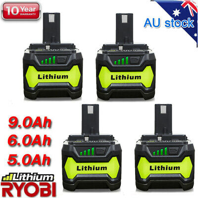 6.0AH 18V Lithium Battery For Ryobi P108 P104 ONE+ Plus P102 P103 P105 P107 P109