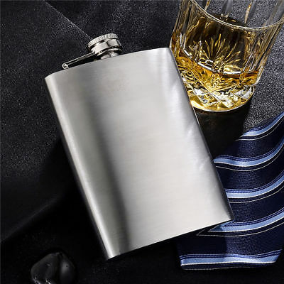 8oz Portable Stainless Steel Hip Liquor Whiskey Alcohol Pocket Flask Wine Bottle