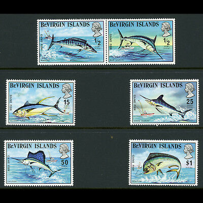 BRITISH VIRGIN IS 1972 Game Fish. SG 277-282. Mint Never Hinged. (AW584)