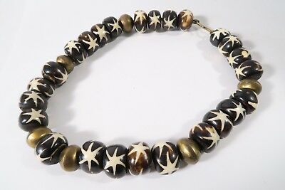 Collier Knochenperlen B Old African bone beads Nacklace Afrozip