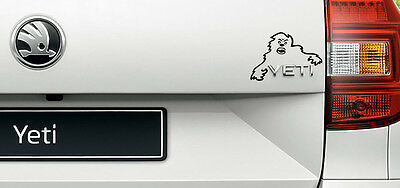 Skoda Yeti Evil Monster Sticker Decal Film for Yeti Emblem Slogan