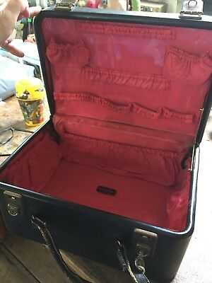 Vintage Handmade by MORTON LEATHER PRODUCTS LONDON black Travelling Vanity Case
