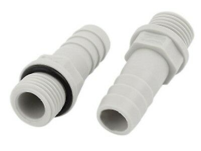 """1x Male 1/8"""" Thread - 8mm Straight Plastic Hose Barb Tail Water Air Fitting pipe"""