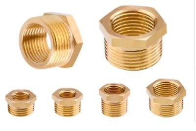 "M5 1/8"" 1/4"" 3/8 1/2 3/4 1"" Male to Female BSP Coupler Brass Fitting Adapter M>F"