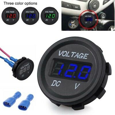 LED Panel 12 V Car Motorcycle Digital Voltage Socket Meter Gauge Voltmeter Boats