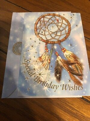 Special Birthday Wishes Indian Dreamcatcher Greeting Card New