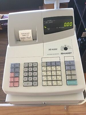 Open Box Sharp XE-A202 Electronic Cash Register Free Ship Tested