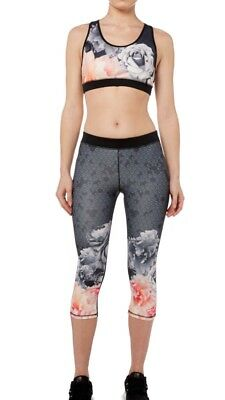 3a12f1b5c309aa Ted Baker Monorose Border Crop Leggings / Gym Bottoms Size Xs ** Bnwt**