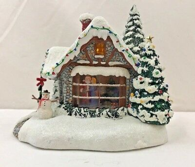 Thomas Kinkade Stillwater Cottage Christmas Village Cottage Teleflora Lighted