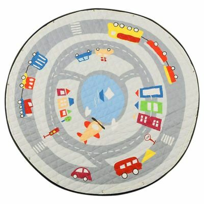2X(Round Rugs Baby Play Mat Toys Storage Organizer,Nursery Rugs Large Polyest L9