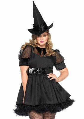 Sexy Leg Avenue Bewitching WITCH Womens Halloween Costume Dress Plus Size 3X/4X