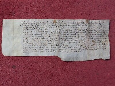Vellum Document Philip And Mary 14 April 1555 Bond For Propty   Kingsnorth Kent