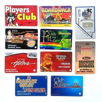 10 Las Vegas Casino Players Cards from Defunct or Renamed Casinos