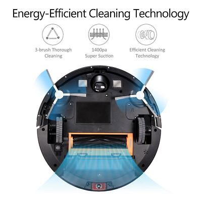 Robot Vacuum Cleaner 2600mAh Battery Drop-Sensing with 1400Pa Strong Suction New
