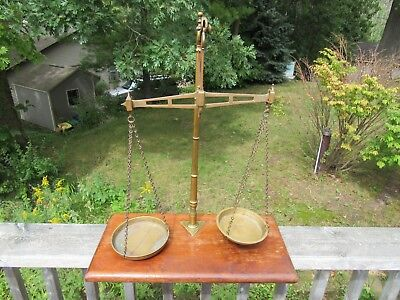 ANTIQUE MID 1800's APOTHECARY OR MERCANTILE SCALE BY W & T AVERY LTD BIRMINGHAM