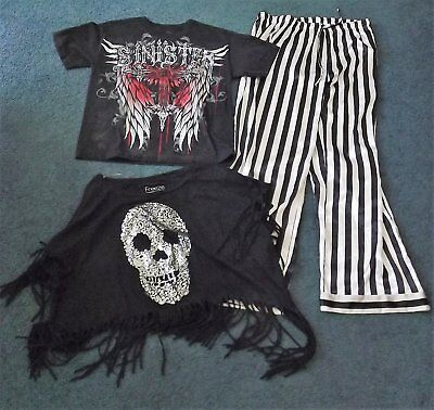 Goth clothing lot - various sizes