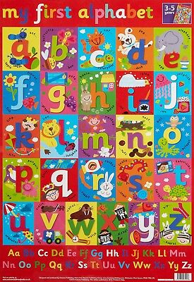 Kids Abc Alphabet High Quality Educational Learning KAA01 POSTER A4 A3 BUY2GET1F