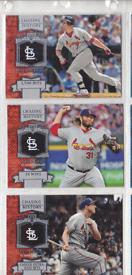 3x Chasing History Topps 2013 St Louis Cardinals  Musial / Lynn / Holliday
