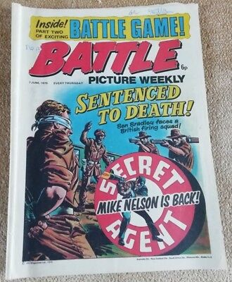 Battle Picture Weekly Comic Issue 13, June 1975(Super Battle game part 2)