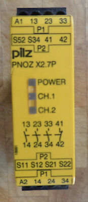 Pilz E-Stop Relay and Safety Gate  Monitor Type PNOZ X2.7P.