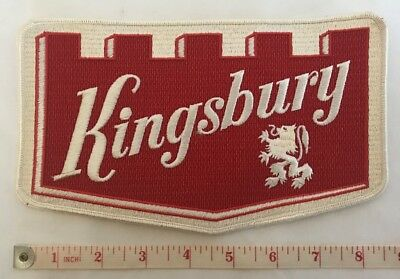"""Embroidered KINGSBURY BEER PATCH 8-1/2""""  * NEW NOS ESTATE ITEM"""
