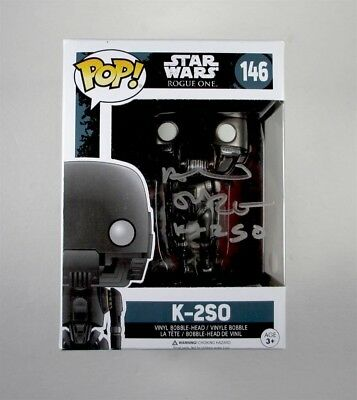 Alan Tudyk Star Wars Rogue One K-2SO Autographed Signed Funko Pop Doll JSA COA