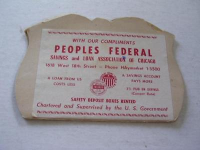 Vintage Needle Kit from Peoples Federal Savings & Loan 1618 W 18th St Chicago IL