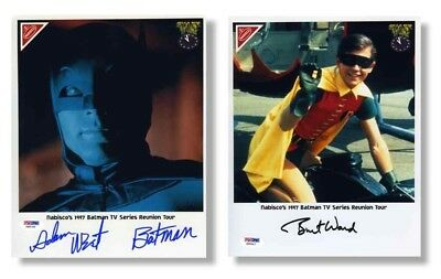Batman Adam West and Burt Ward Nabisco Autographed Signed 8x10 Photo PSA/DNA COA