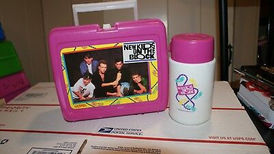 Vintage New Kids on the Block 1990 Lunch Box and Thermos