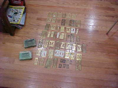 "Brass Stencils 2"" & 1.5"" Letters Numbers"