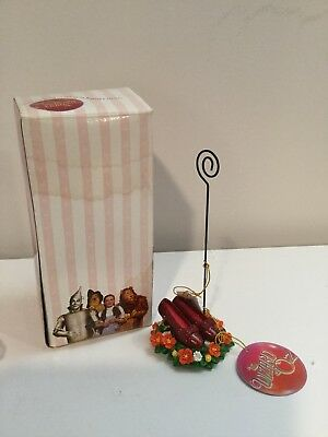 Wizard Of Oz Ruby Slippers Picture Clip / Photo Holder. New In Box.