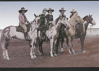 Pendleton Oregon Rodeo Cowgirls Of 1926 On Pinto Horses Large Frameable Postcard