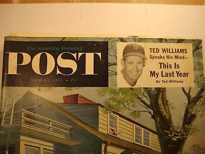 3 POST magazines TED WILLIAMS baseball article 1954 rare VINTAGE collectible VG