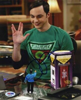 Jim Parsons Big Bang Theory Autographed Signed 8x10 Photo Certified PSA/DNA COA